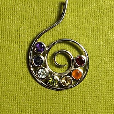 spiral chakra pendant